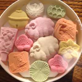 Wagashi of New Year Higashi ( Japanese Dry Sweet)