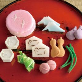 Assorted Higashi (Dry Japanese Sweet) of Niigata's Wagashi