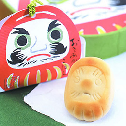 Wagashi ( Japanese Sweet) of Lucky Dharma (Daruma)
