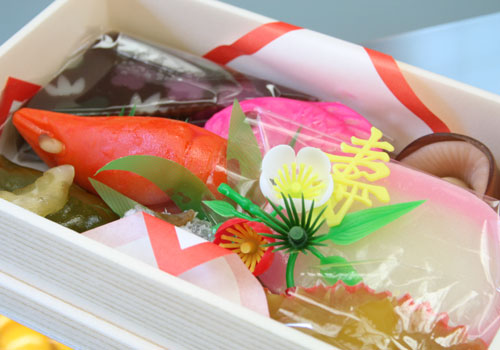 Treasure Wagashi's Chest of Japanese Sweet Lucky Charm-Shaped