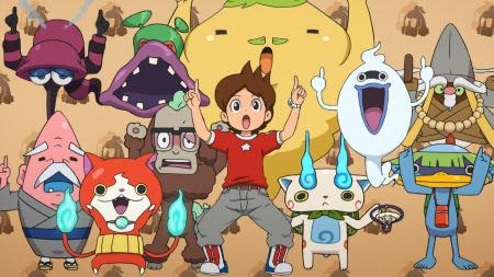 a cartoon yo kai watch kawaii yo kai characters appear in various