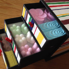 Chest Wagashi, Cute Higashi (Dry Japanese sweet)