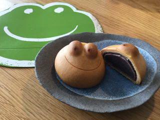 """Kawaii""(cute) kaeru-Manjuu( Japanese sweet bun)"